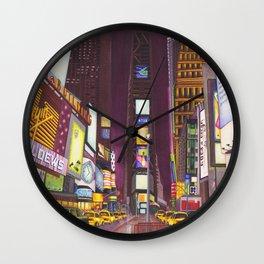 """""""Times Square at Night"""" Wall Clock"""
