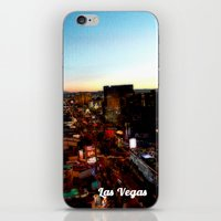 las vegas iPhone & iPod Skins featuring Las Vegas by Natasha Jones
