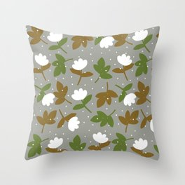 Cotton & Snow Throw Pillow