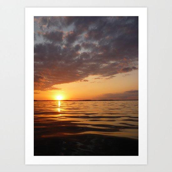 Sunset Swirl Art Print
