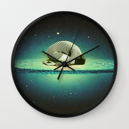 Balasana space Wall Clock