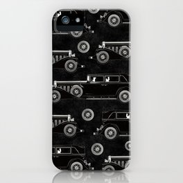 Retro car pattern iPhone Case