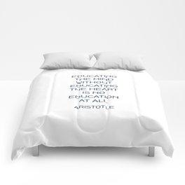 EDUCATING THE MIND - Aristotle Greek Philosophy Quote Comforters