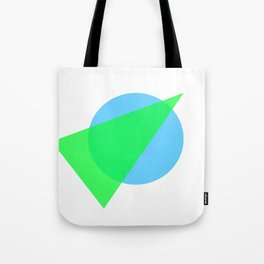 Compass: Blue and Green Tote Bag