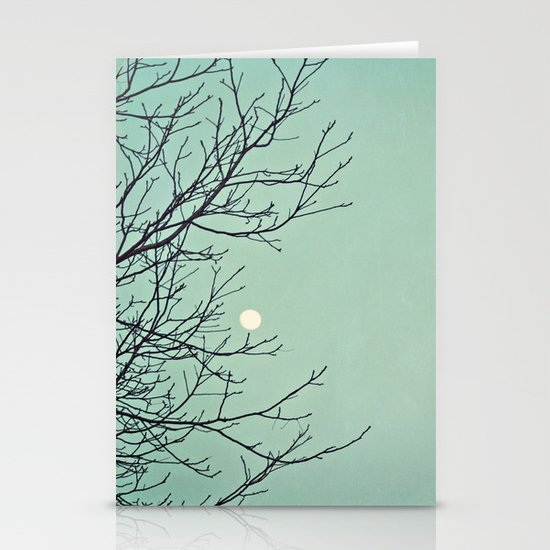 Holding the moon Stationery Cards