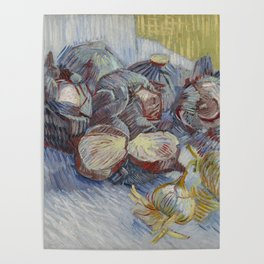 Red Cabbages and Onions Poster