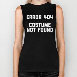 Error 404 Costume not found Halloween Costume Biker Tank