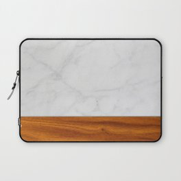 Marble and Wood 2 Laptop Sleeve