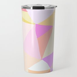 Scribble Stained Glass Pink Travel Mug