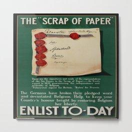 Vintage poster - The Scrap of Paper Metal Print