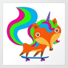 Foxicorn Art Print