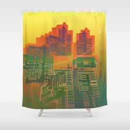 Station / Spatial Factor 19-12-16 Shower Curtain