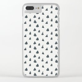 Hand painted black gray watercolor geometrical triangles Clear iPhone Case
