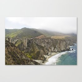 Pacific Coast Highway In Big Sur Canvas Print