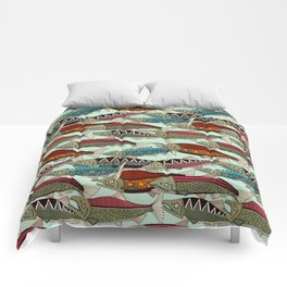 Alaskan salmon mint Comforters