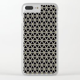 Black, white and gold triangle pattern Clear iPhone Case