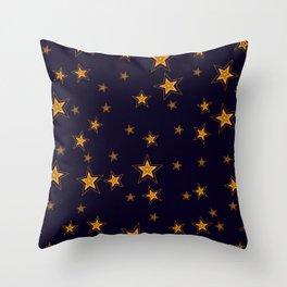 Shining Stars Seamless Pattern Throw Pillow