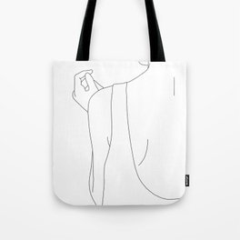 Fashion illustration line drawing - Carl Tote Bag
