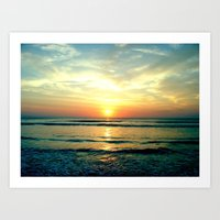 sunrise Art Prints featuring Sunrise by THEORY