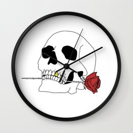 Death as a Friend Wall Clock
