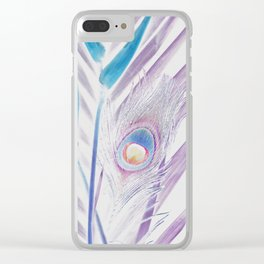 Pastel Peacock Clear iPhone Case