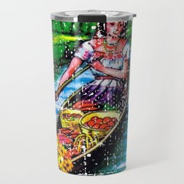 La Chalupa Mexican Loteria Bingo Card Travel Mug