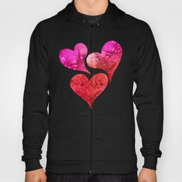 Red to pink spattered Hoody