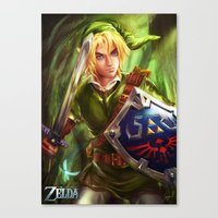 legend of zelda Canvas Prints featuring Link - Legend of Zelda by Sanjin Halimic