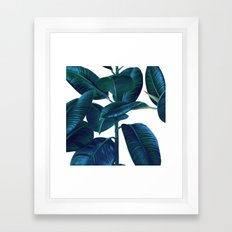 Luna Leaves Framed Art Print