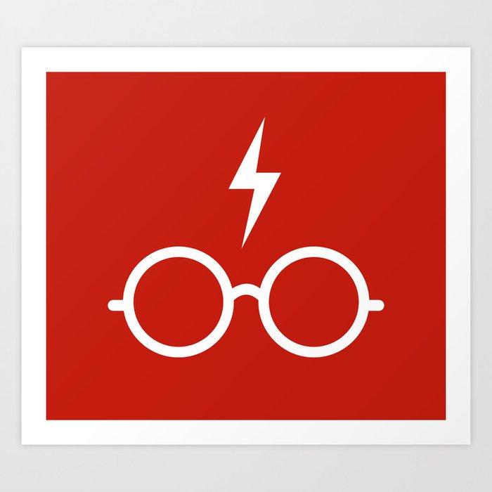 Harry Potter Minimal Art Print