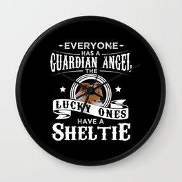 Sheltie Dog Owner Funny Gift Idea Wall Clock