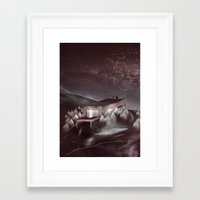 kpop Framed Art Prints featuring Night Sky Stories by Martynas Pavilonis
