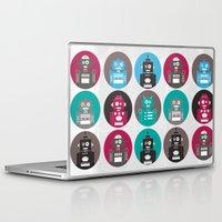 robots Laptop & iPad Skins featuring Robots by Kakel