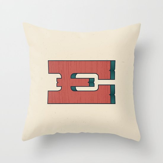 E 001 Throw Pillow
