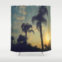 florida Shower Curtains featuring Florida by Jillian Stanton