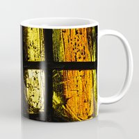 stained glass Mugs featuring Stained glass by Pirmin Nohr