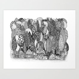 Mysterious Village Art Print