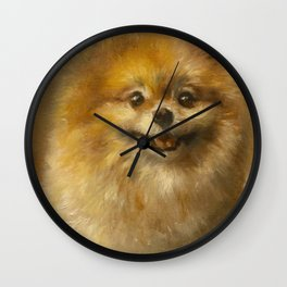 Pomeranian Painting #2 Wall Clock
