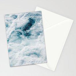 sea - midnight blue storm Stationery Cards