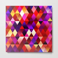 Texture triangles lilia Metal Print