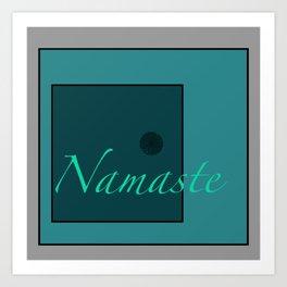 Namaste Blue Art Print