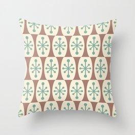 Mid Century Modern Atomic Fusion Pattern 103 Throw Pillow