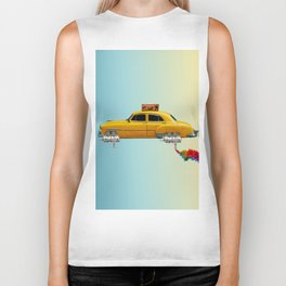 Yellow sci-fi car Biker Tank