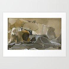 India & Payne Surface Art Print
