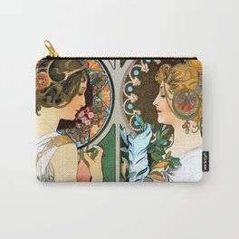 """Alphonse Mucha """"Primrose and Feather"""" Carry-All Pouch"""