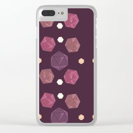 Red and Purple DnD Dice Clear iPhone Case