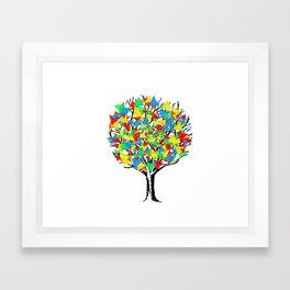 Geometric Tree Framed Art Print