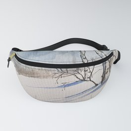 Winter Birches Fanny Pack