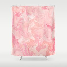 Blush pink abstract watercolor marble pattern Shower Curtain