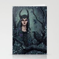 maleficent Stationery Cards featuring Maleficent by Angela Rizza